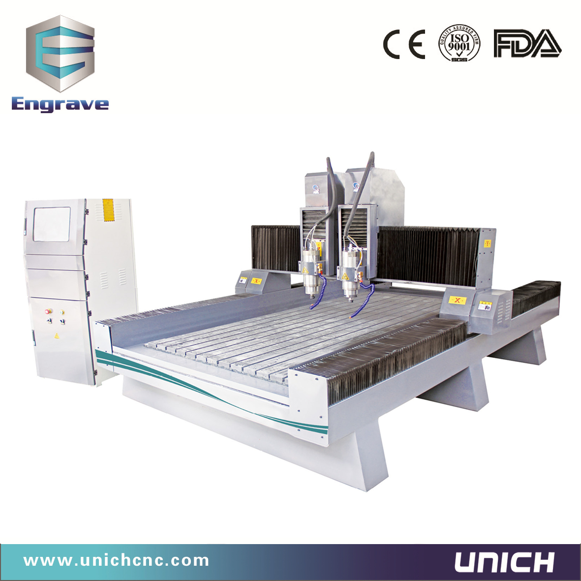 Unich 1300x2500mm CNC Stone Router