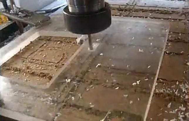 UNICH CNC Router cutting acrylic