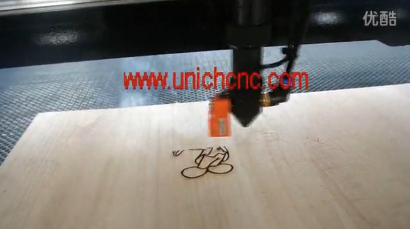 UNICH LXJ1325 cnc laser engraving wood