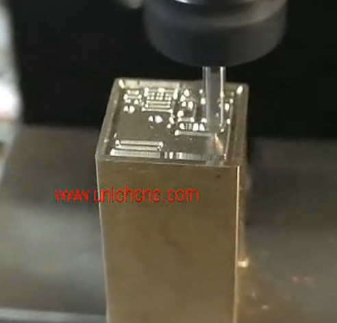 UNICH CNC Router engraving brass
