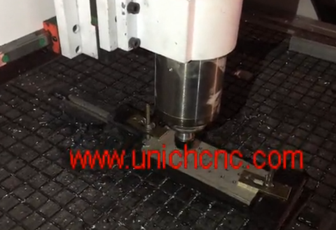 UNICH CNC Router cutting metal