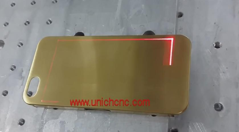 20W fiber laser marking  phone case laser marking