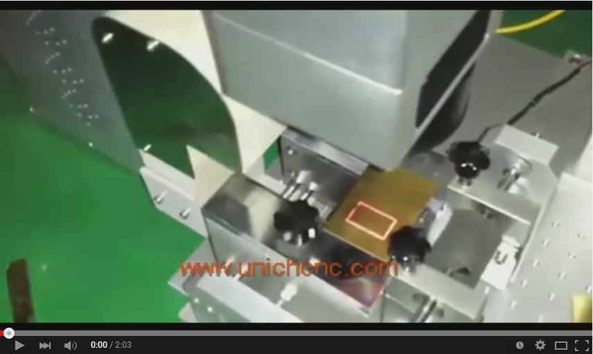 Unich fiber laser 30W IPG cutting 0.4mm copper
