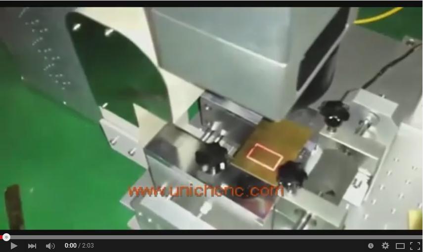 Unich fiber laser 30W IPG cutting 0.4mm copper