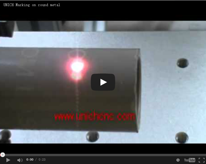 UNICH Laser marking machine on metal