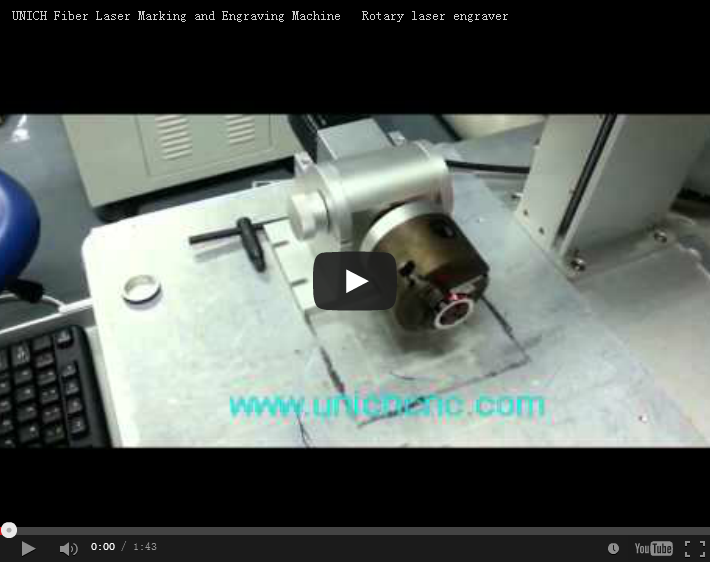 UNICH Laser marking machine with rotary