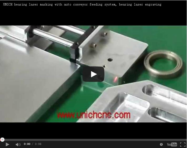 UNICH bearing laser marking with auto conveyor feeding system
