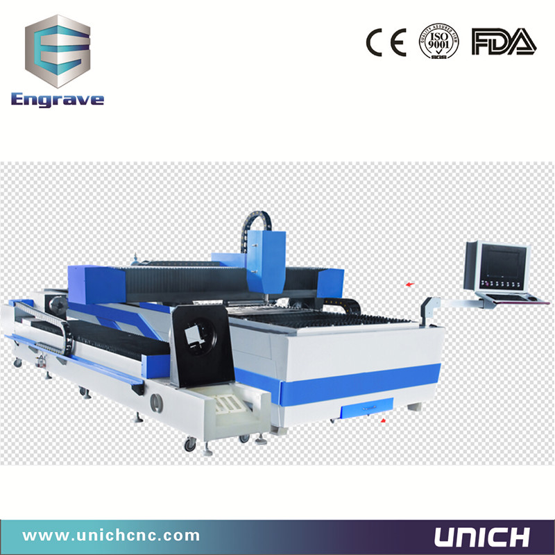 Fiber laser cutting machine for flat sheet and metal pipe-500W