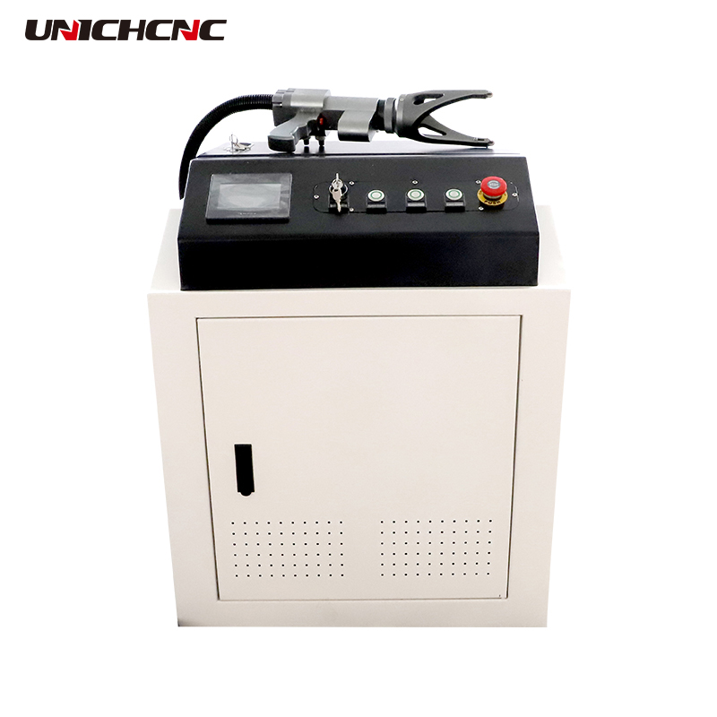 Portable laser cleaning machine 50w 70w 100w 200w 350w for greasy dirt