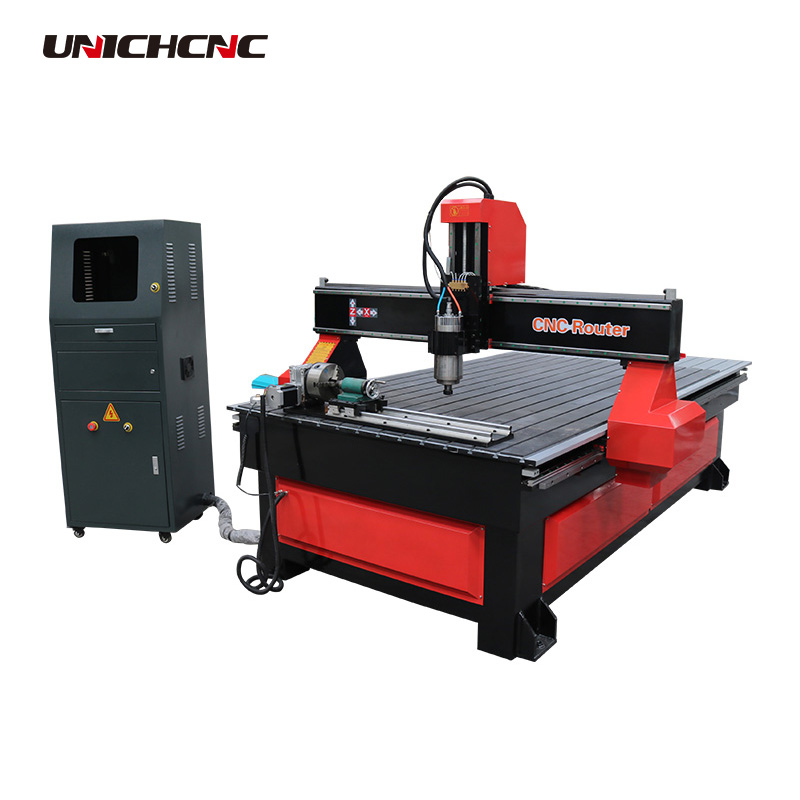 Hobby heavy duty cnc router machine with rotary axis