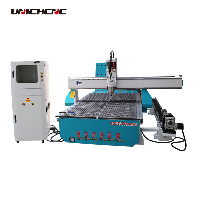 Jinan cnc router machine kit with rotary device in Japanese