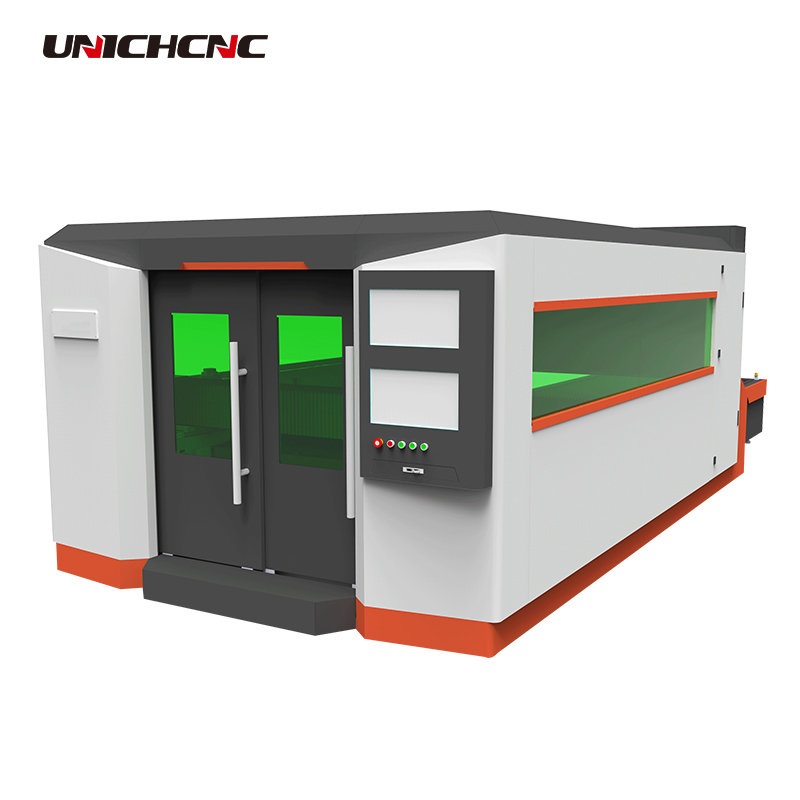 1kw fiber cnc laser cutting machine with rotary device for copper plate ss cs
