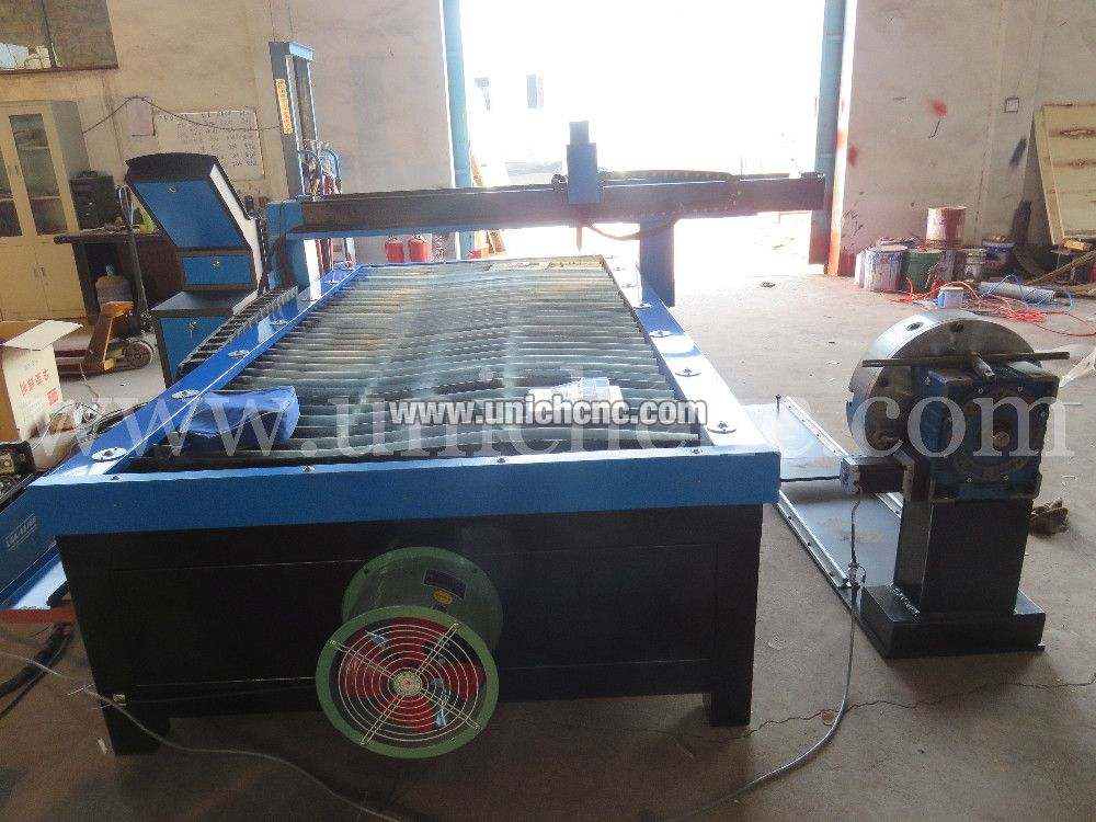 Blue Color 1300 2500mm Working Area Plasma Cuttting Machine With