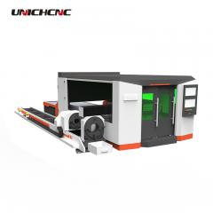 Professional metal plate and tube pipe cutter cnc fiber laser cutting machine for stainless steel carbon steel