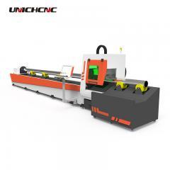Simple maintenance 300w 700watt pipe and metal sheet tube  cutting fiber laser machine