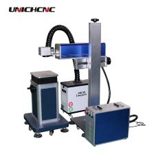Co2 Separated  20w acrylic non metal laser marking machine on cantaloupe and pumpkin