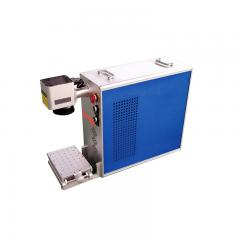 Portable mini Laser marking pcb 2d table machine fied lens with diameter 110mm