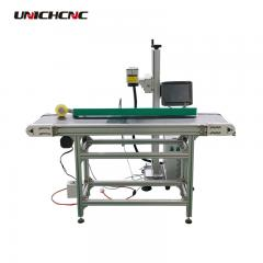 Flying laser engraving and marking machine with sensor optional