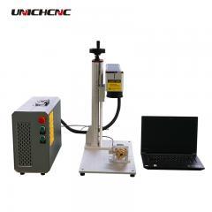 Flexible work 20w 50w 100w mini fiber marking machine