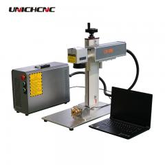 New design Gold silver engraving with rotary 20w fiber laser marking machine