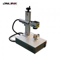 Double outside red light steel laser marking machine portable fiber