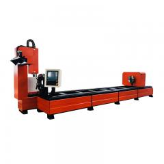 Diameter 20-500mm plasma square round pipe metal tube cutting machine 2030 2060 stainless carbon steel cnc plasma cutter