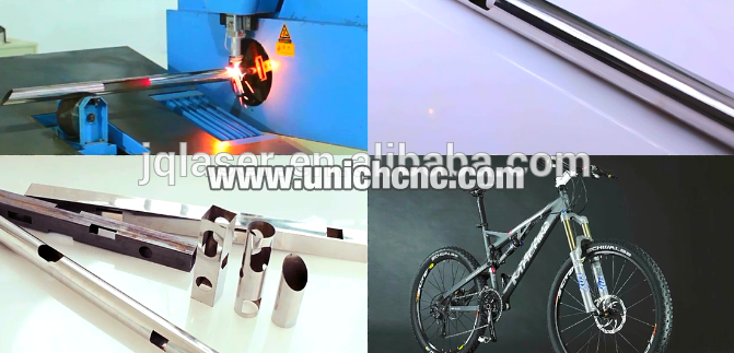 China Hot sale semi-automatic metal pipe fiber laser cutting machine size