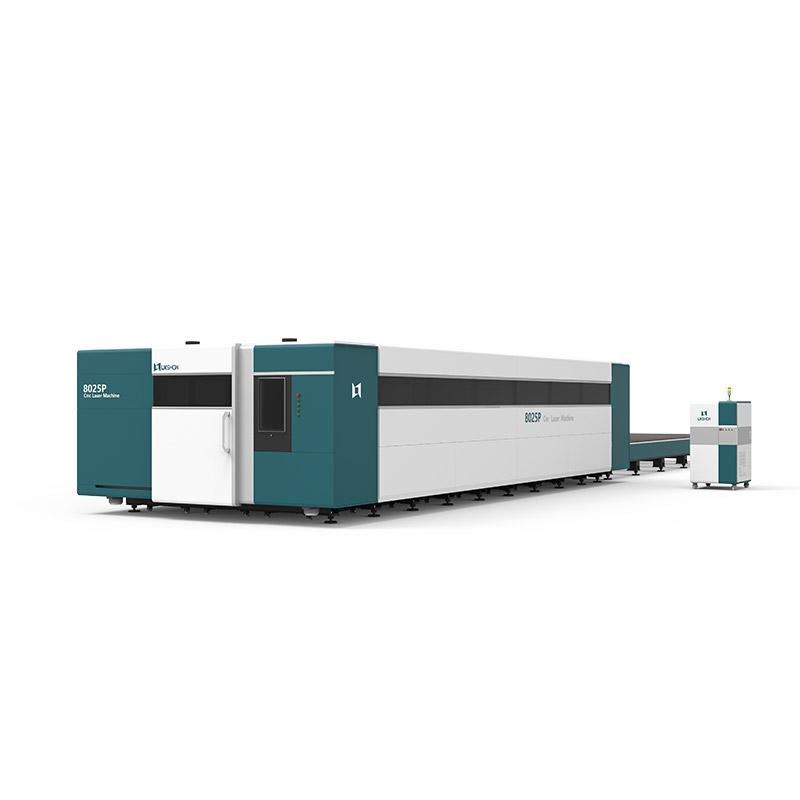 【LX8025P】3000W 4000W 6000W 8000W 10000W 12000W cnc fiber laser cutting machine double working table Working width of each workbench 8m