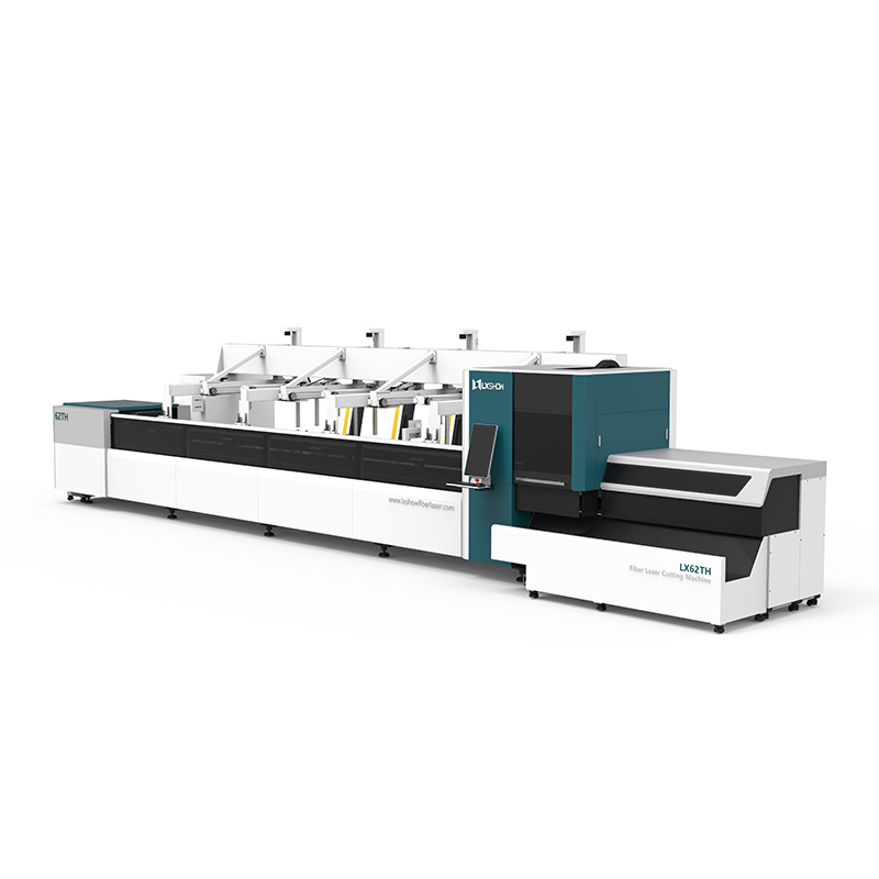 【LX62THA】Automatic Loading and Unloading Square tube and circle tube Metal pipe Fiber laser cutting machine
