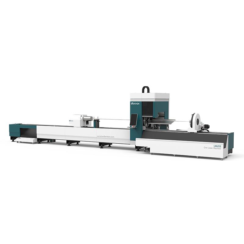 【LX62Ⅲ】Cnc laser pipe cutting machine LX62Ⅲ Three-chuck heavy-duty laser pipe cutting machine