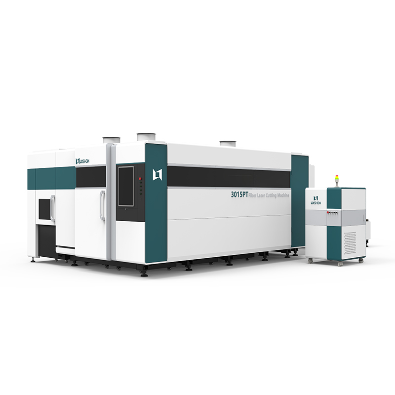【LX3015PT】3kw 4kw 6kw 8kw 10kw 12kw Metal Iron Fiber laser cutting machine with exchange table full cover rotary metal tube pipe fiber laser cutter